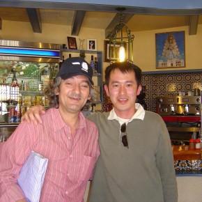 con Moraito en Bar Arco de Santiago